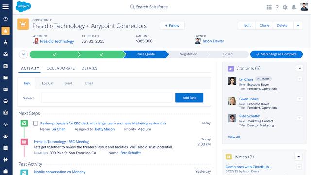 Salesforce platform screenshot