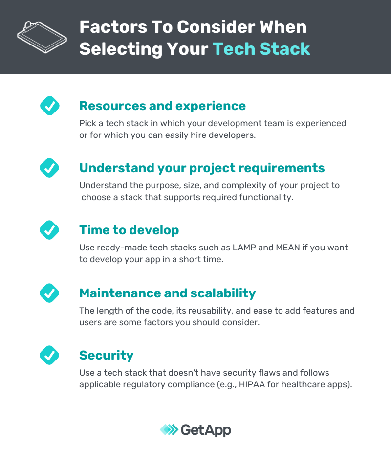 Factors to consider when buying a tech stack