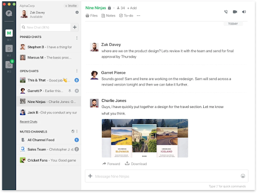 Flock user dashboard screenshot
