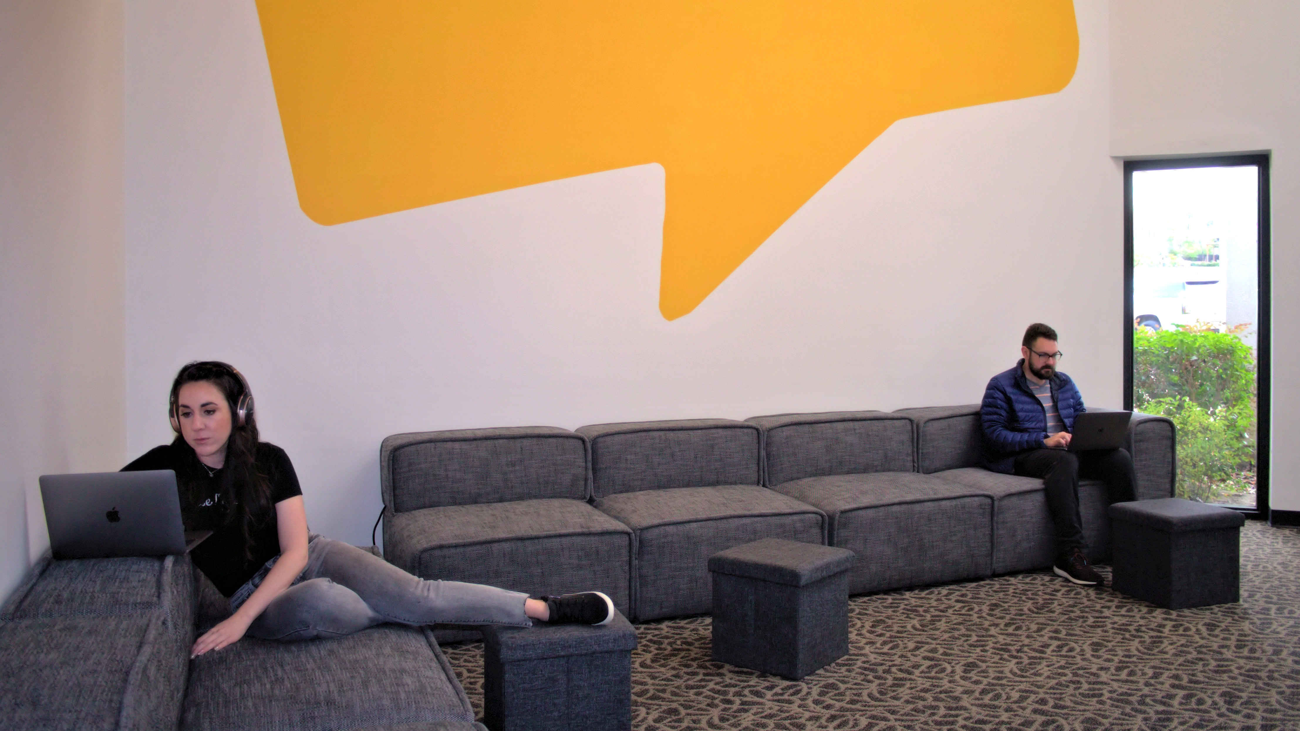 One of several common areas at the Software Advice office in Austin, Texas