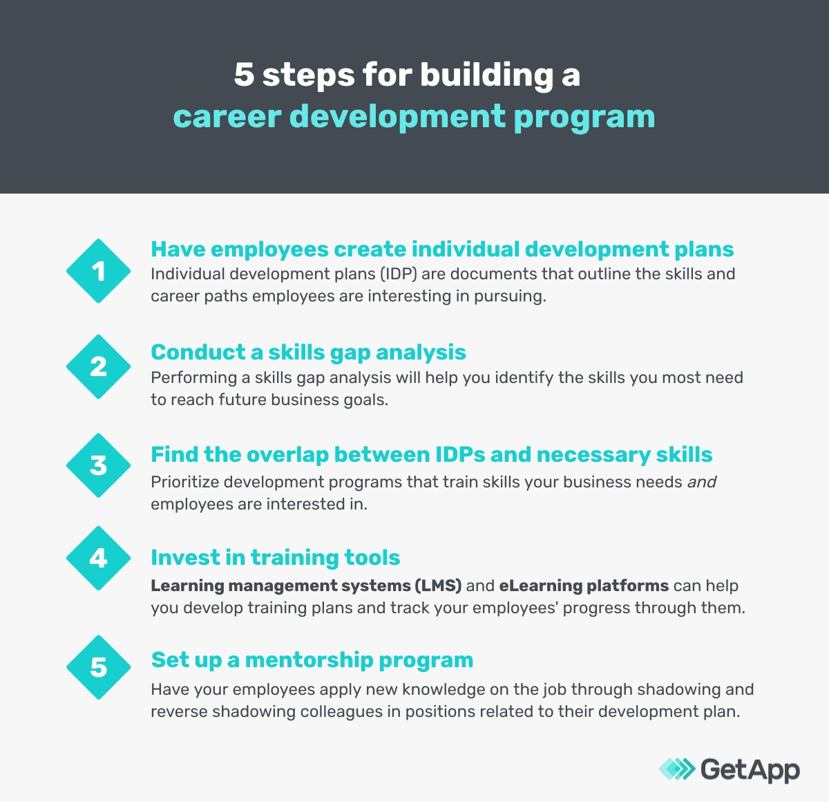 5 steps for building a career development program