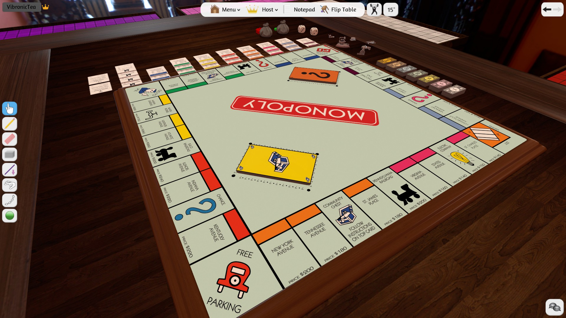 You can host a virtual Monopoly night in Tabletop Simulator