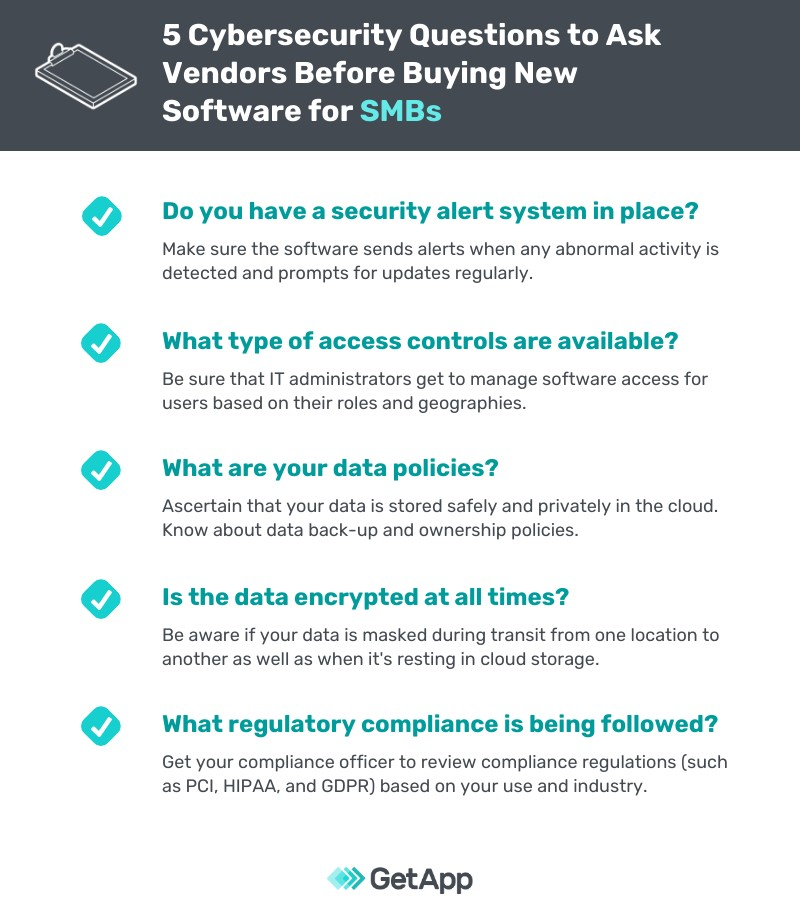 5 Cybersecurity Questions To Ask Your Vendor Before Buying New Software