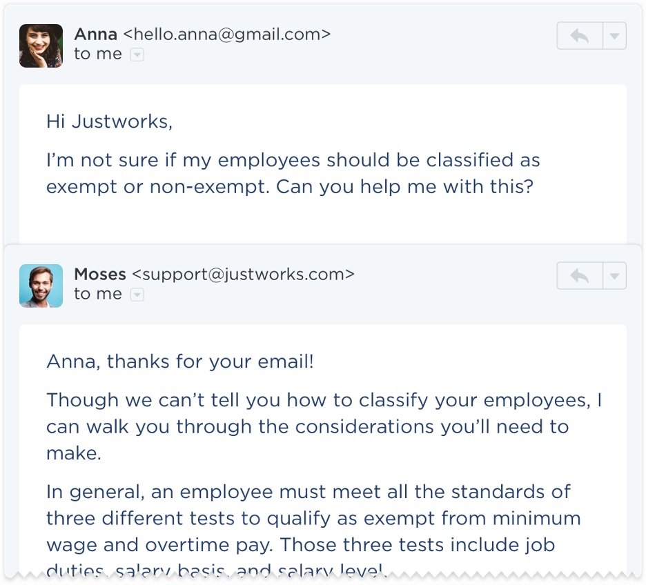 24/7 customer support in Justworks