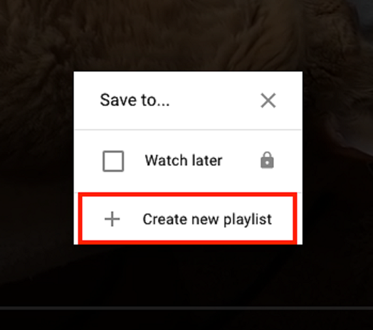 How to create a new YouTube playlist