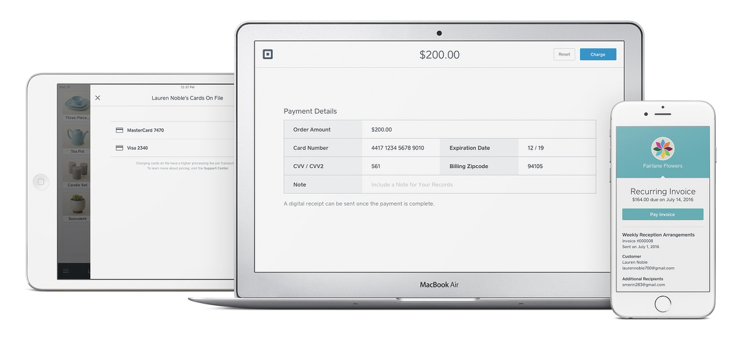Invoice generation in Square Payments