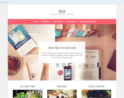 Website created with Wordpress screenshot