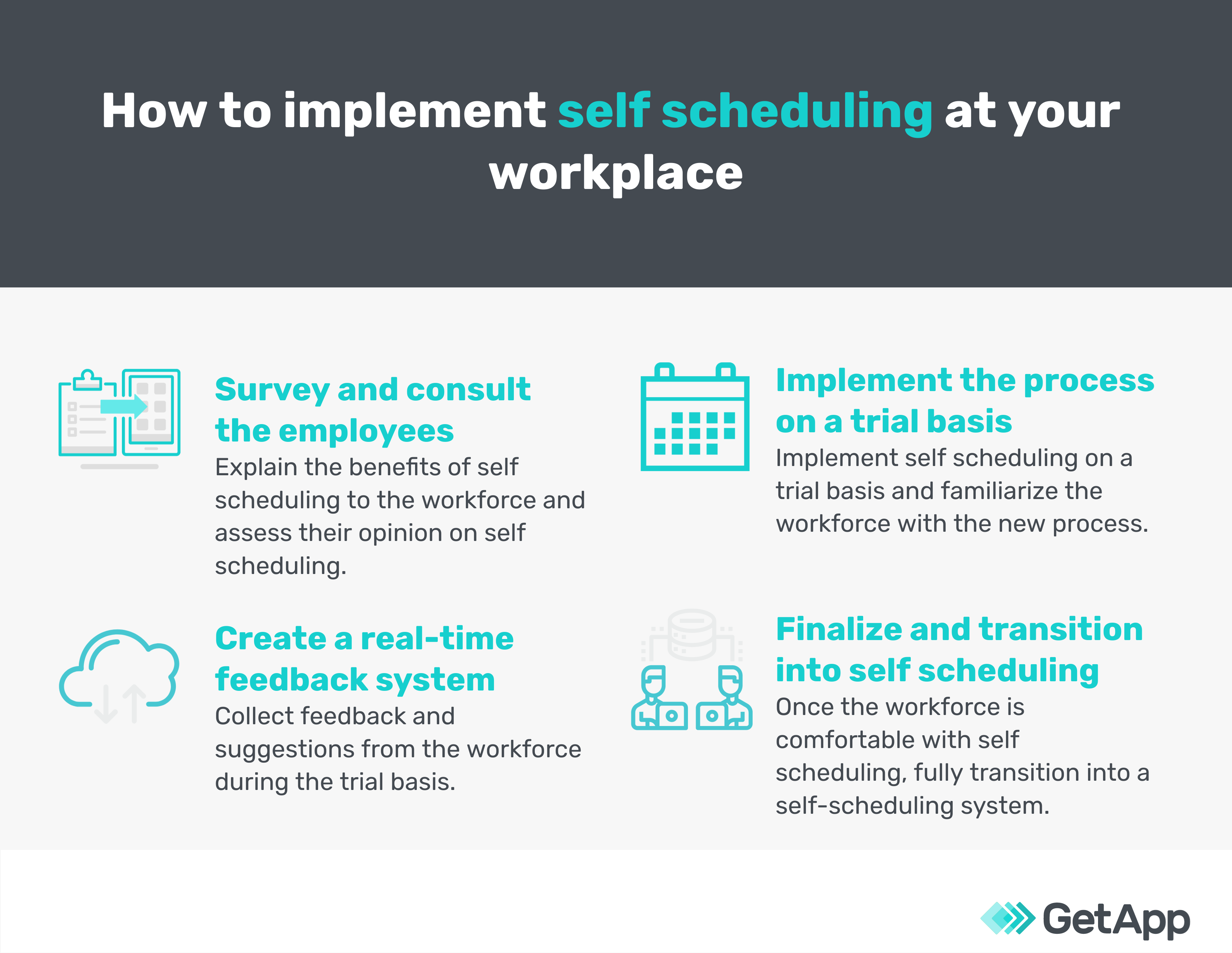 how to implement self scheduling at the workplace