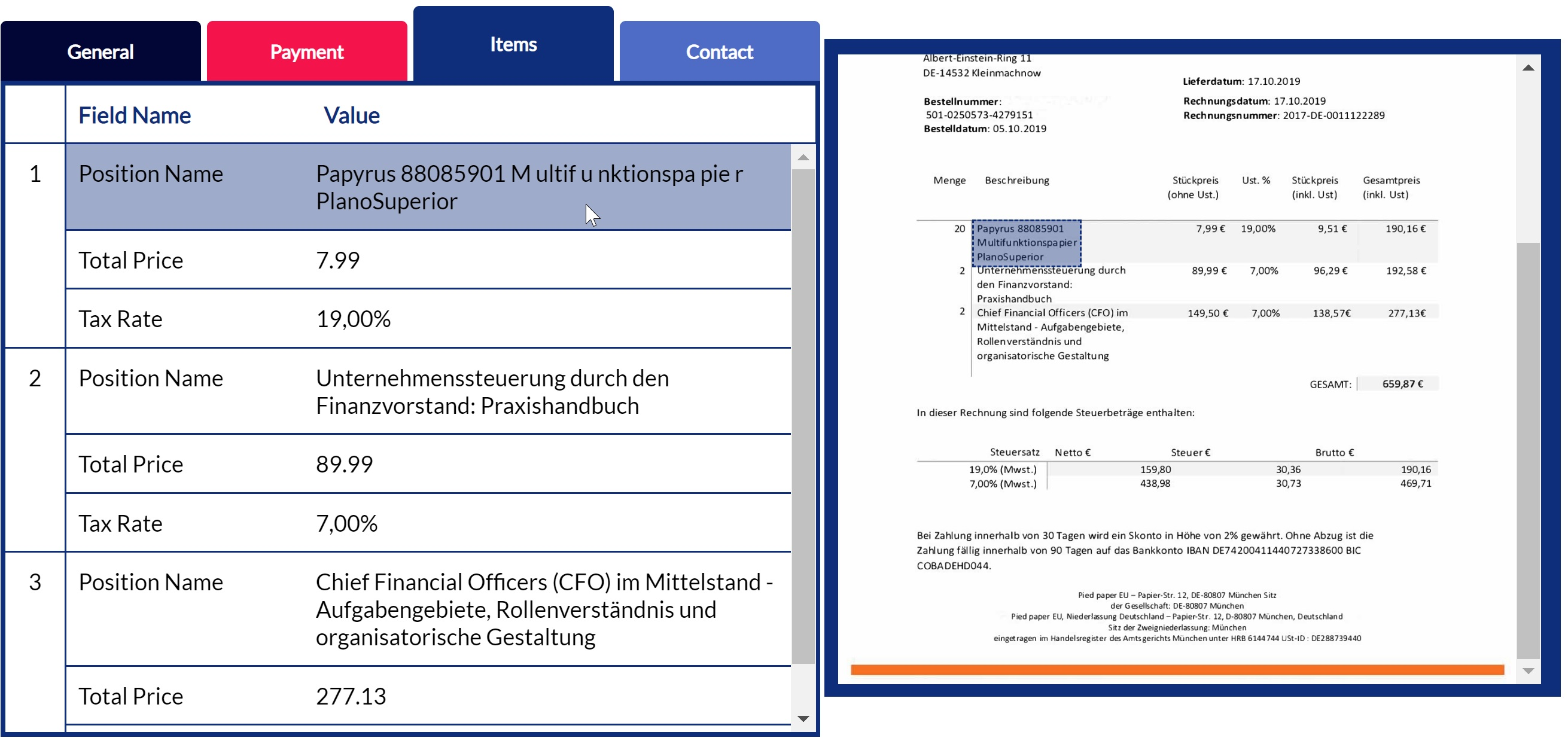 Capturing invoice details using OCR technology in Hypatos