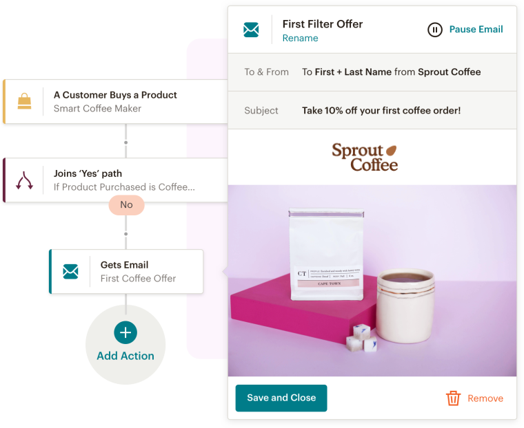 Setting up a drip campaign in Mailchimp