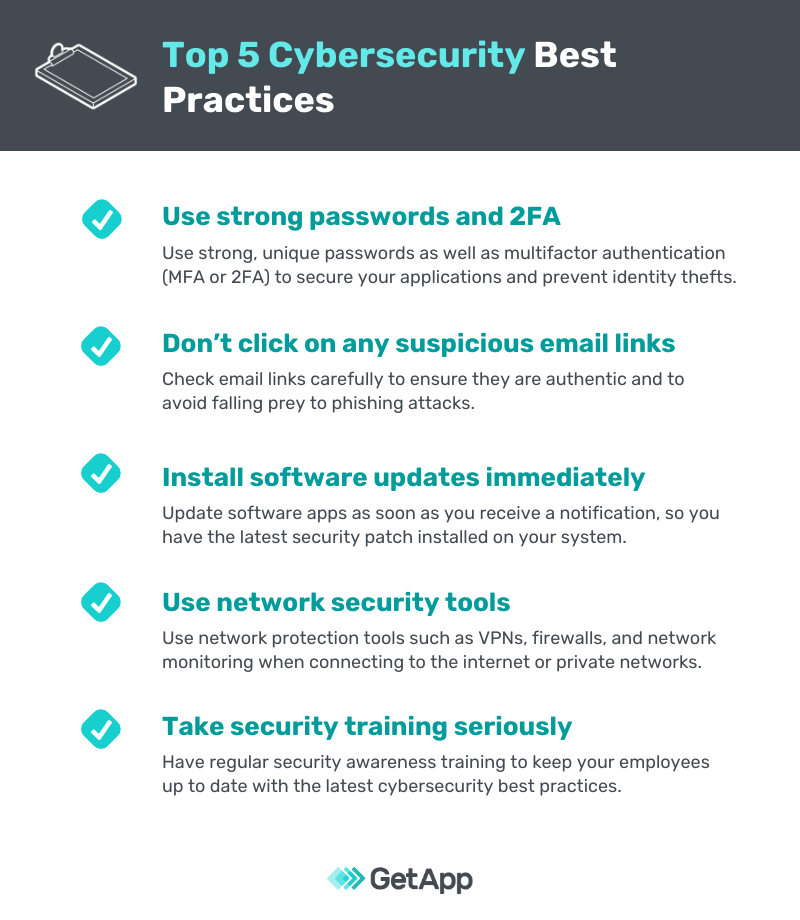 Top 5 cybersecurity best practices