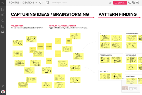 screenshot of MURAL collaboration software