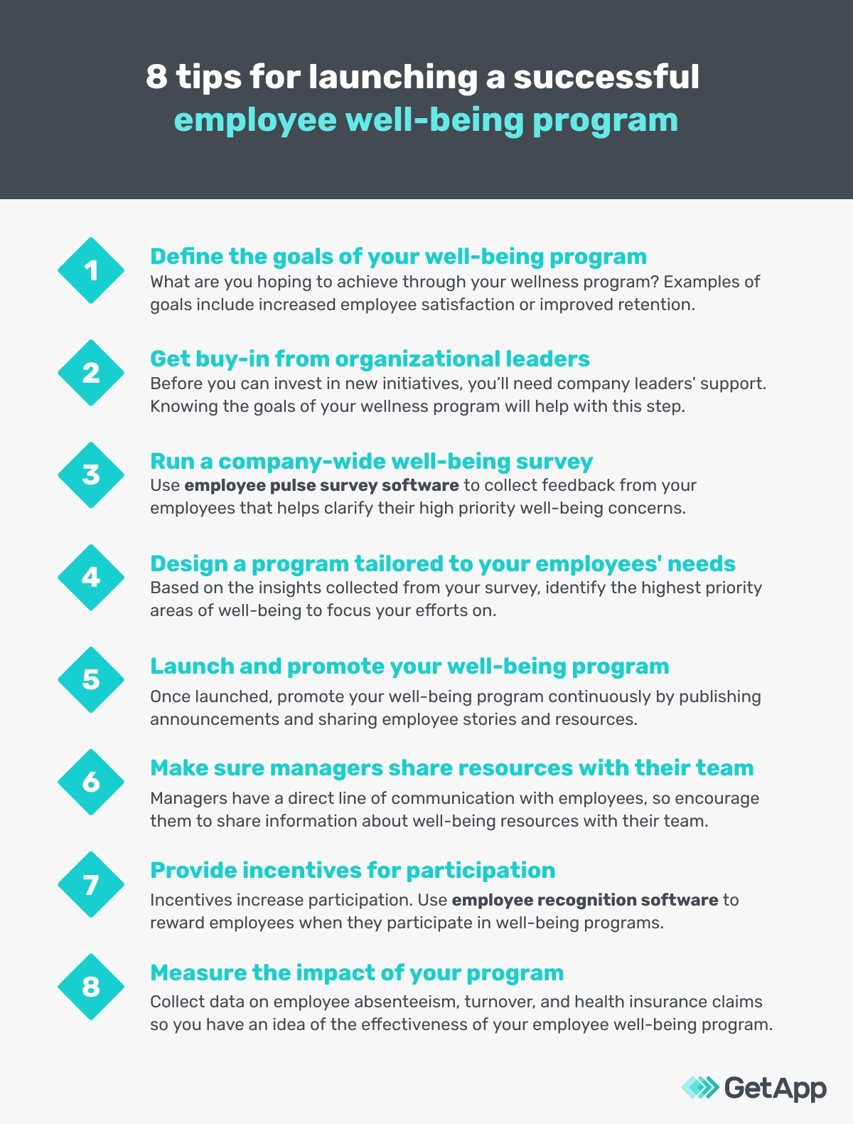 8 tips for launching a successful employee well-being program