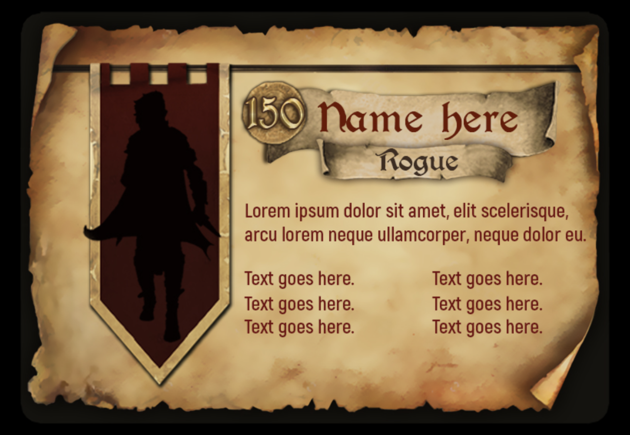 A video game layout design offered by The Game Crafter