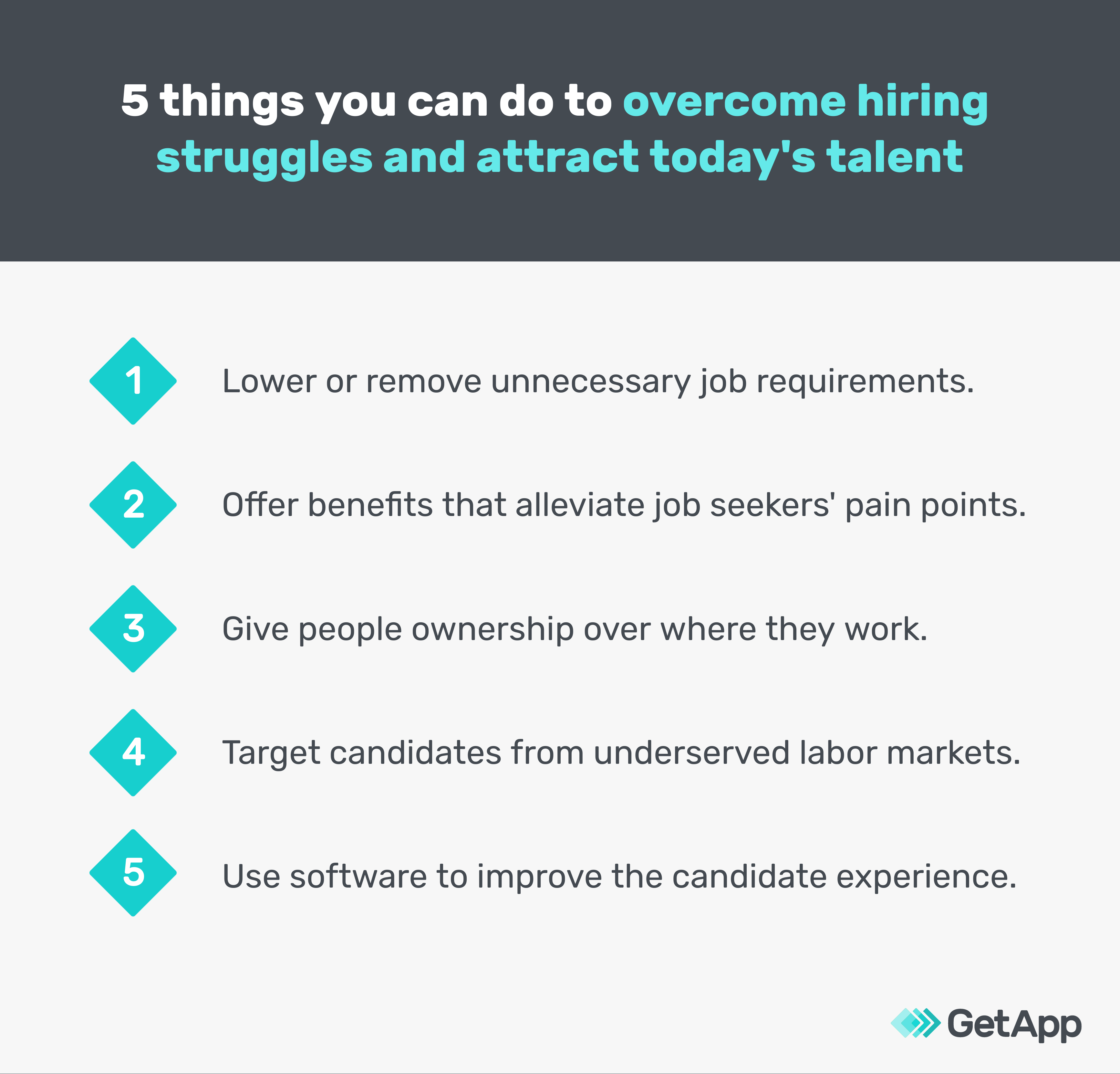 5 things you can do to overcome hiring struggles and attract today's talent