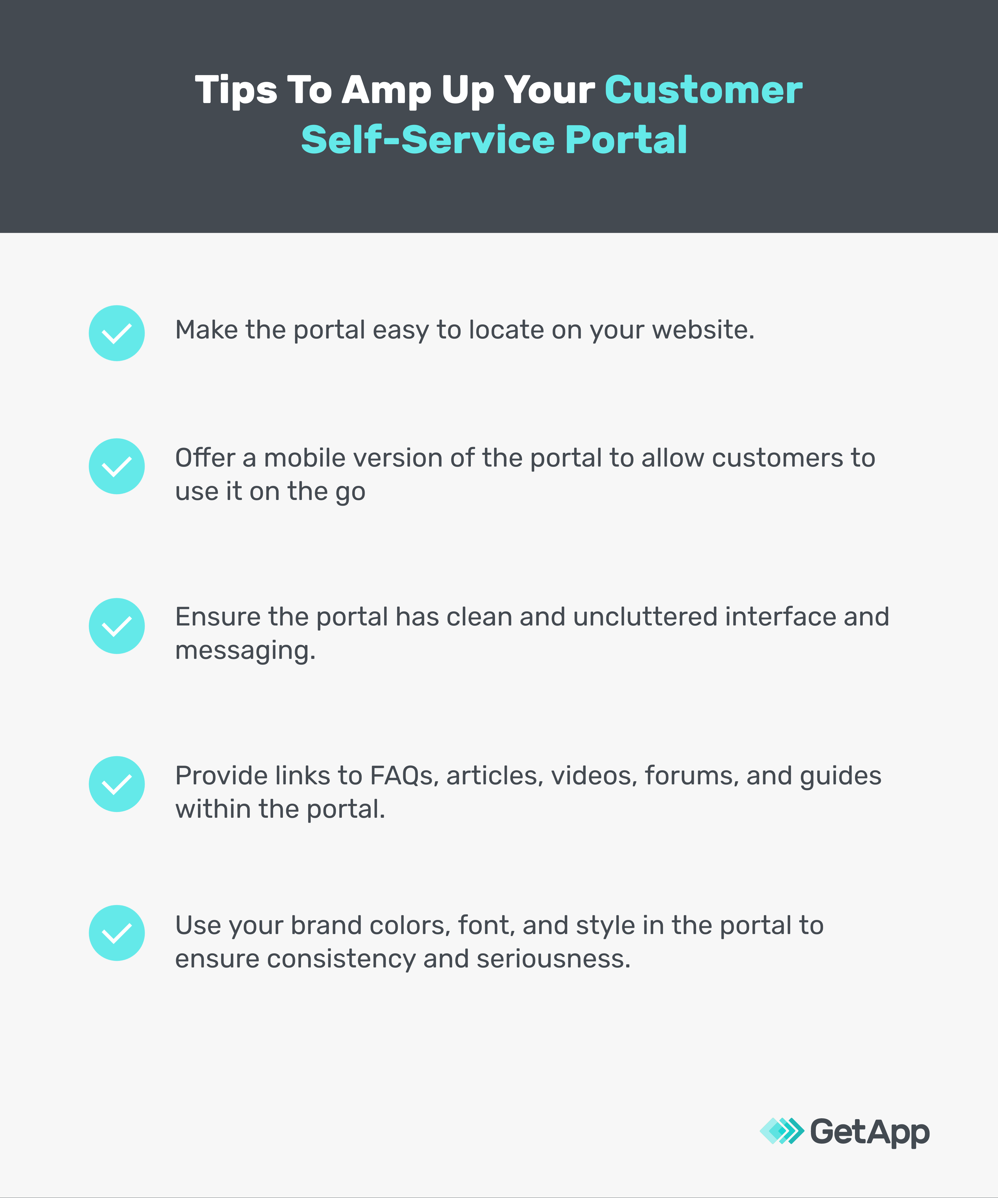 Tips to amp up customer self service portal
