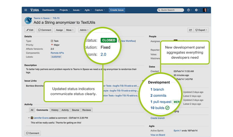 A screenshot of Jira's issue details view