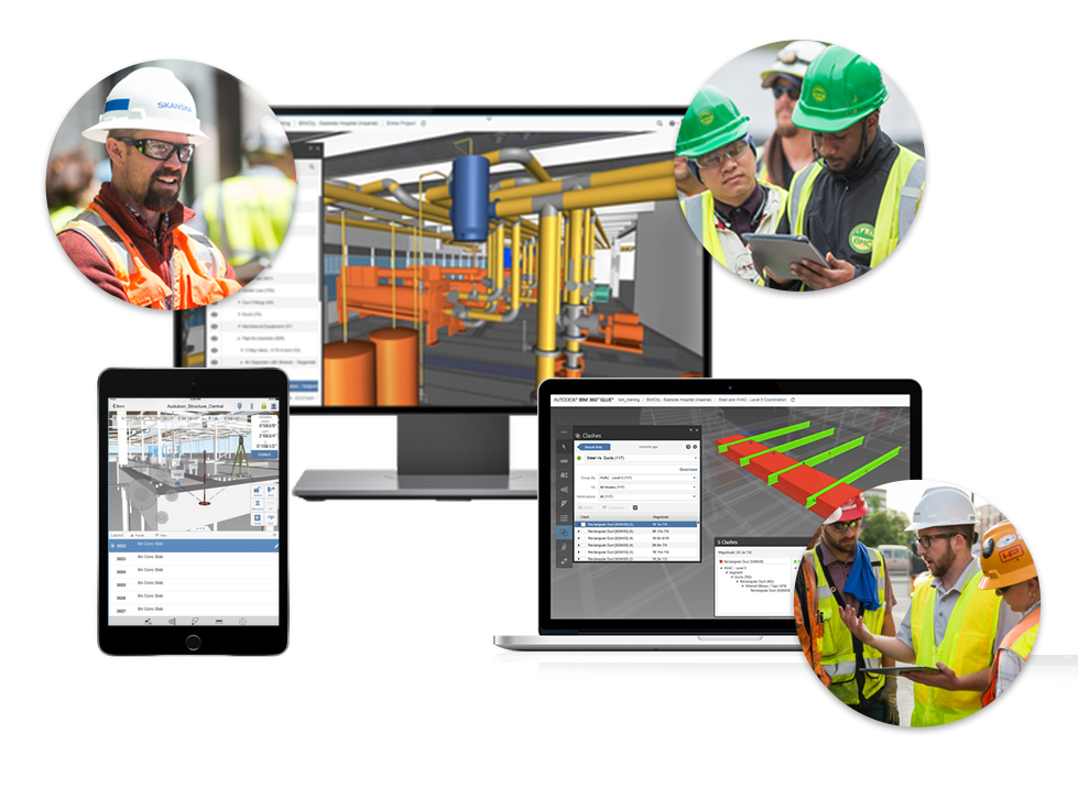 Screenshot of communication and collaboration using 3D models on multiple devices using BIM360
