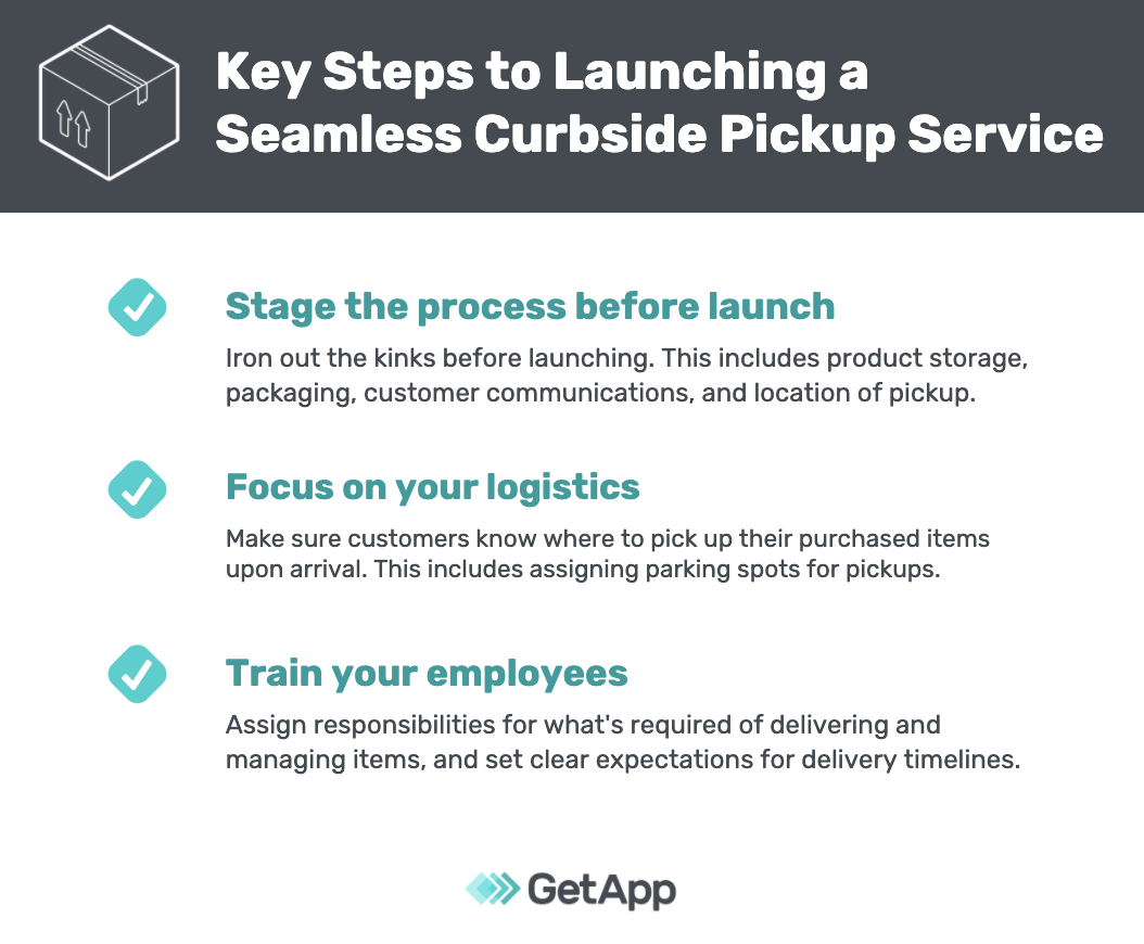 Key steps to launching curbside: staging, logistics, training