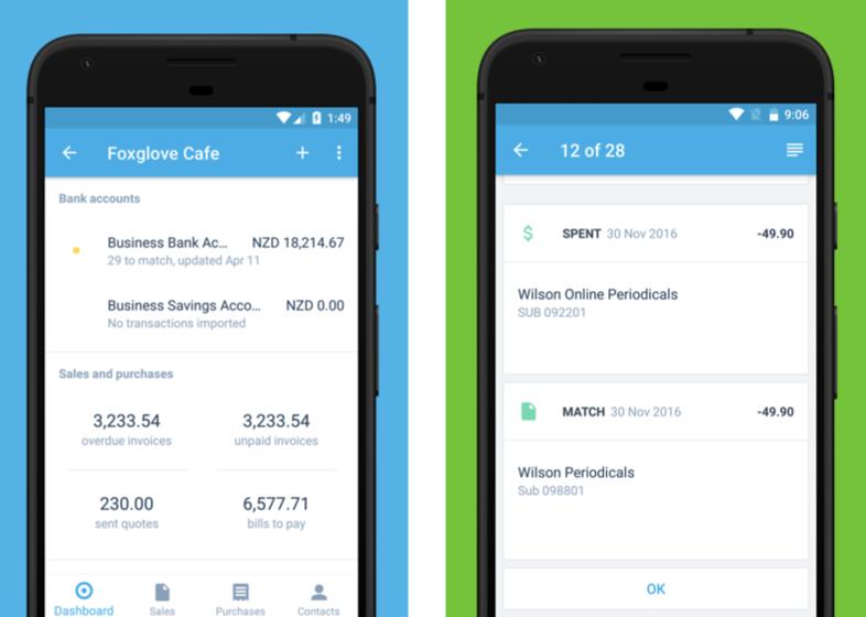 Xero Android accounting app screenshot