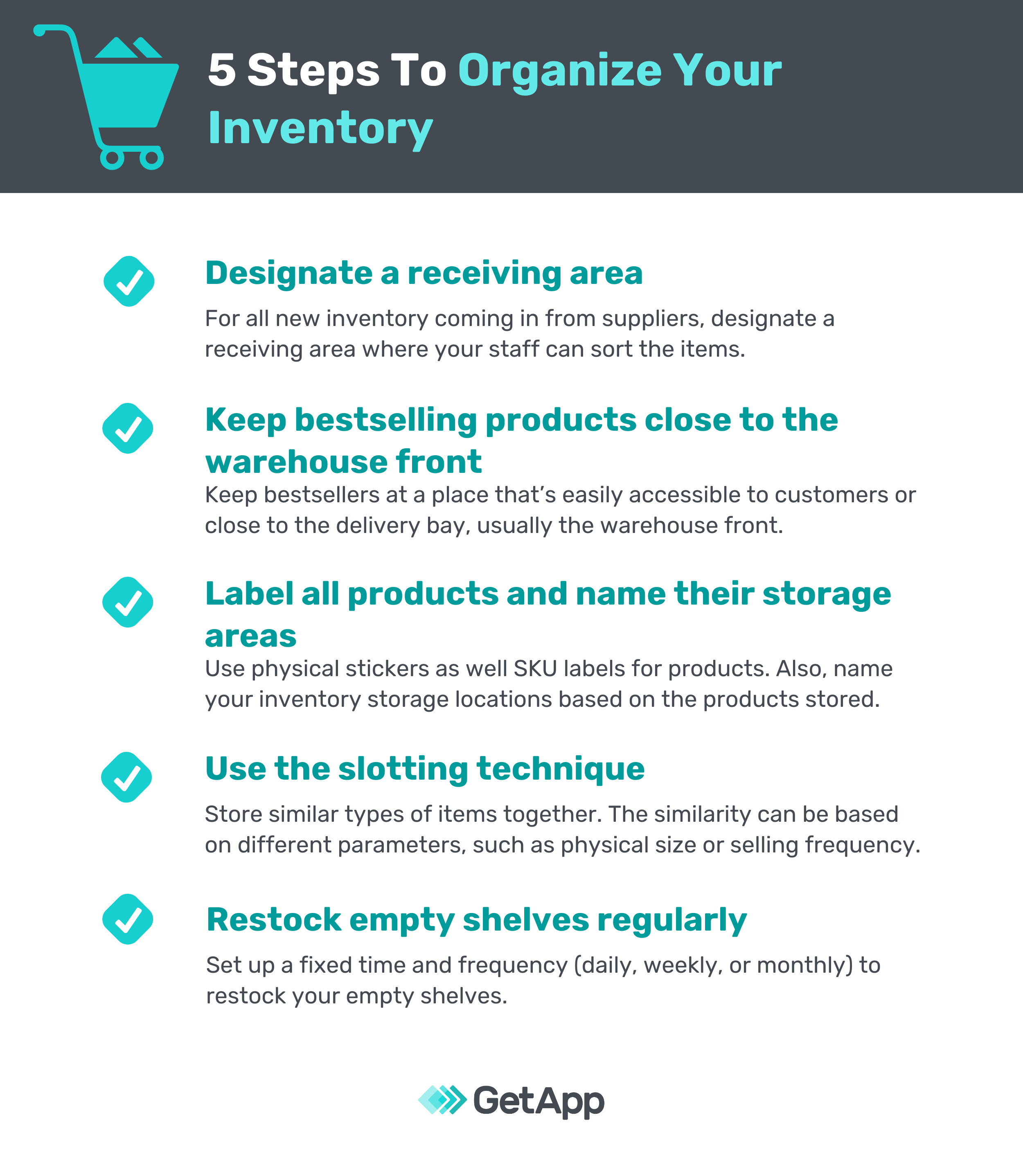 5 steps to organize your warehouse inventory