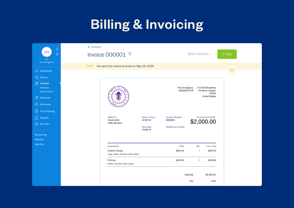 Billing and Invoicing in FreshBooks