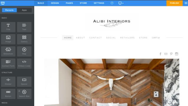 Website builder in Weebly