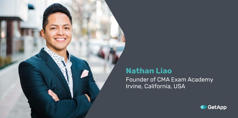 Nathan Liao, founder of CMA Exam Academy
