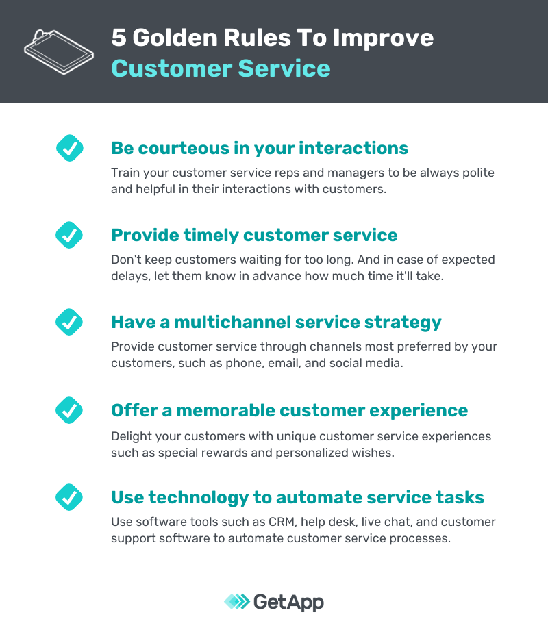 How to improve customer service: 5 golden rules