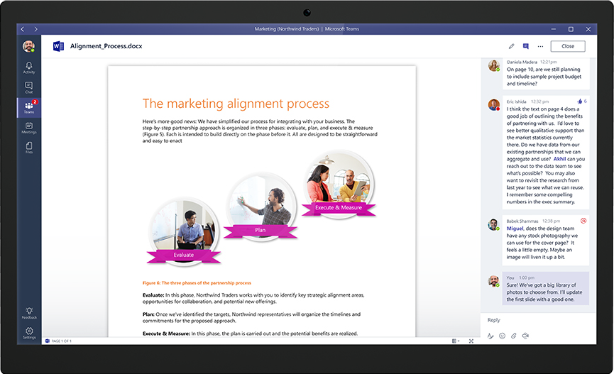 Adding comments to shared files in Microsoft Teams