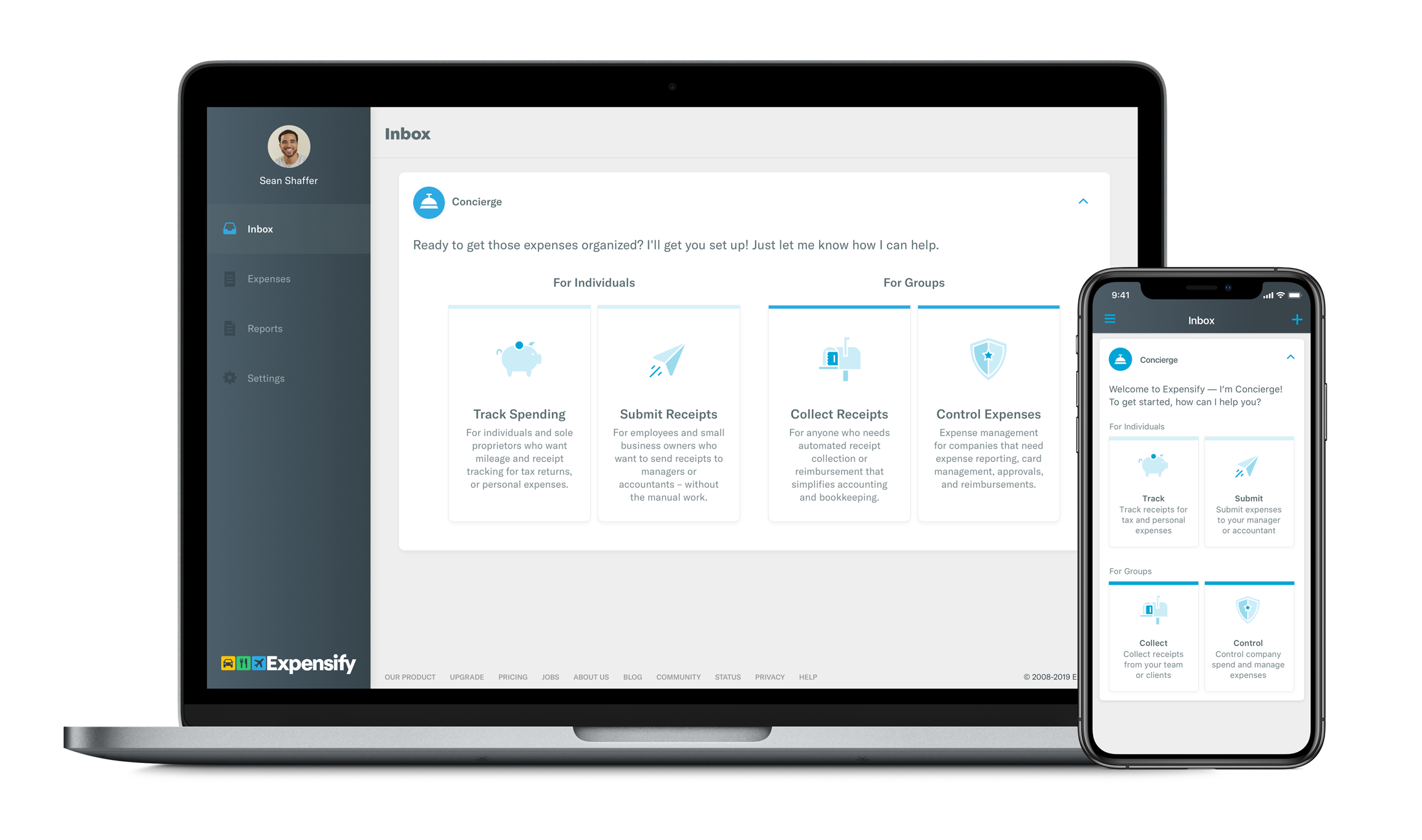 Expense dashboard in Expensify