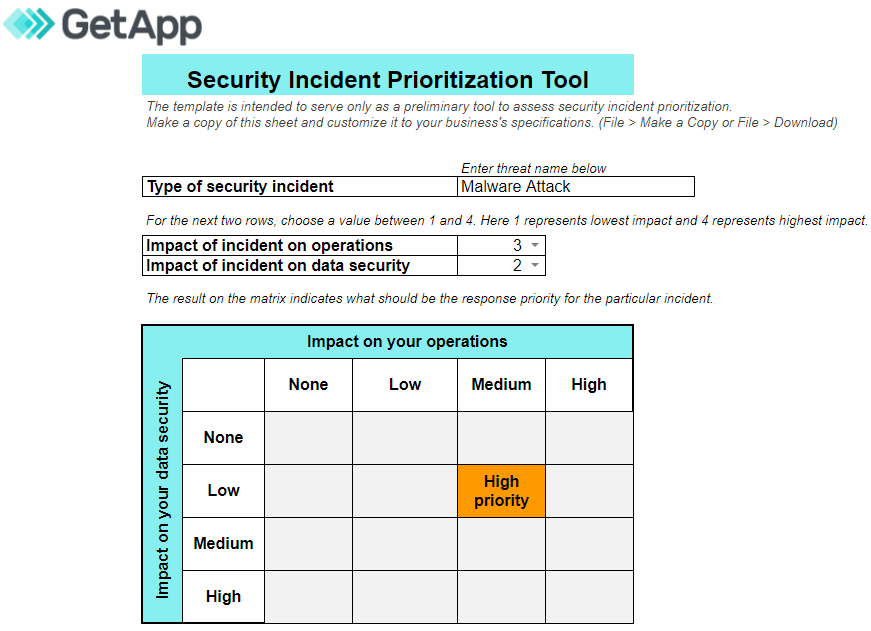 Download our security incident prioritization tool