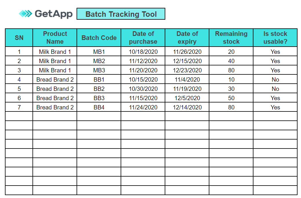 getapp's downloadable tracking tool