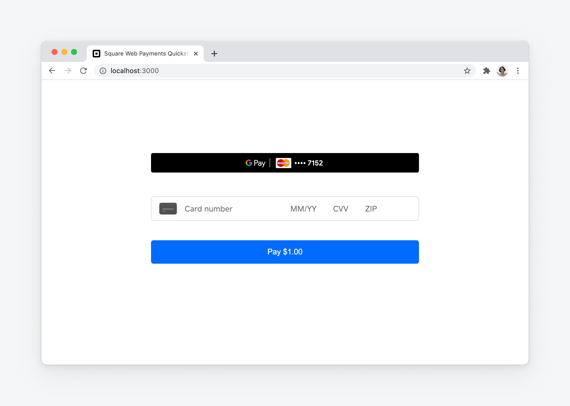 web payments : google pay : button rendered