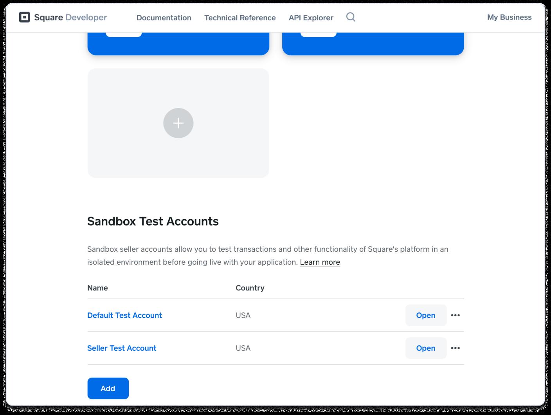 DevDashboard Seller Test Accounts
