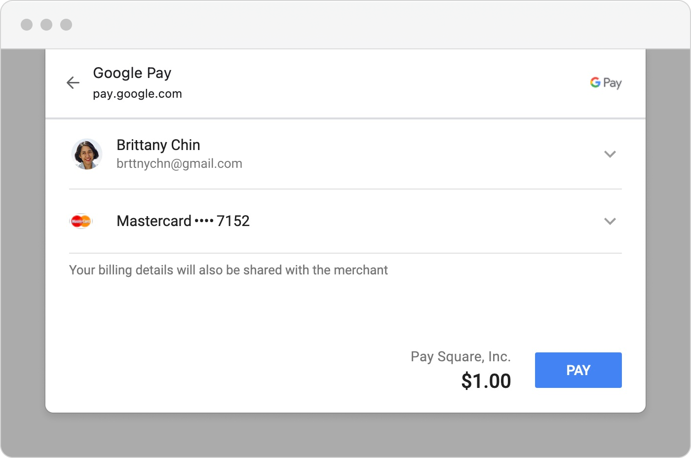 web-payments : google pay : hero