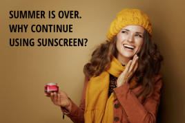 Image for everyday skin care for navigation featured section about why to continue using sunscreen after summer.
