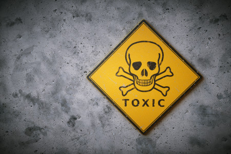 warning sign for toxic chemicals