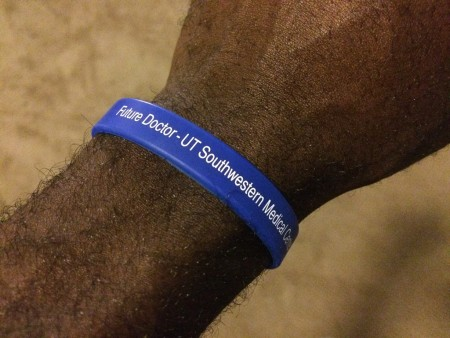 Students in the Pipeline Program are given a wristband