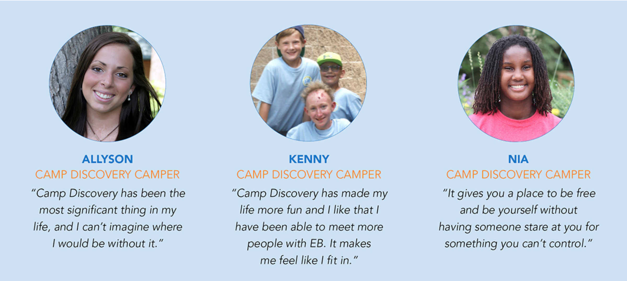 Camp Discovery commissary quotes