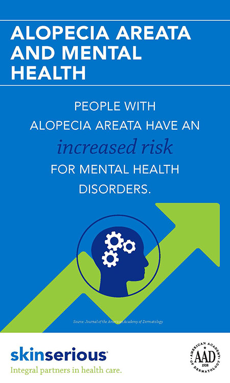 Alopecia Areata and Mental Health Infographic
