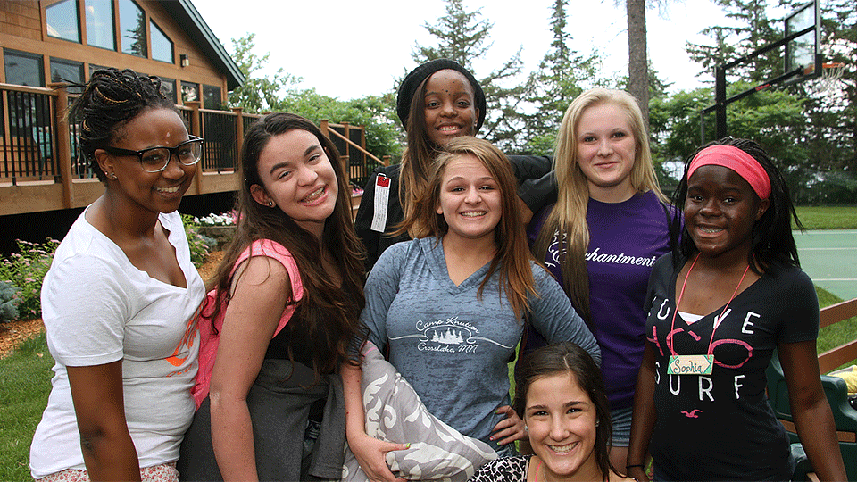 Group of young teens at AAD's Camp Discovery