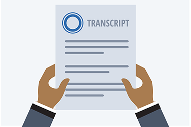 view transcript icon