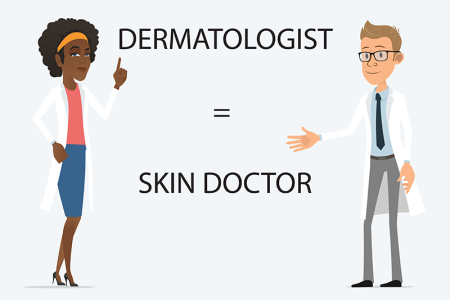 illustration of two dermatologists