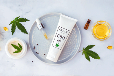Cosmetic skin care products with cannabis oil (CBD)
