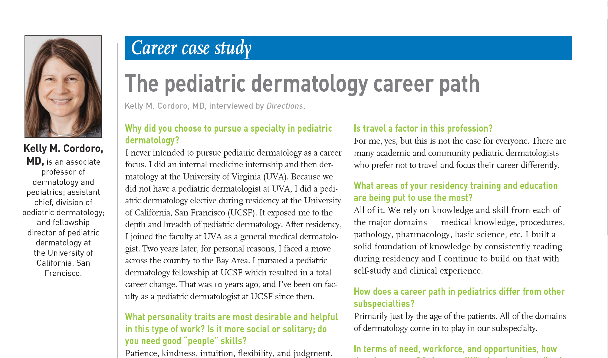 PDF of pediatric career case study