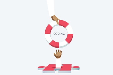 Coding illustration for member home page