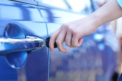 unlocking car door