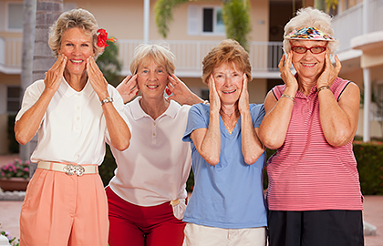 Senior citizens women