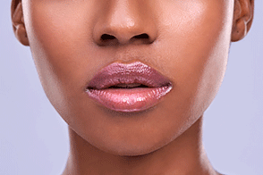 African American woman with healthy, plump lips
